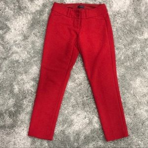 """Christmas"" Red Cropped Skinny Pants"